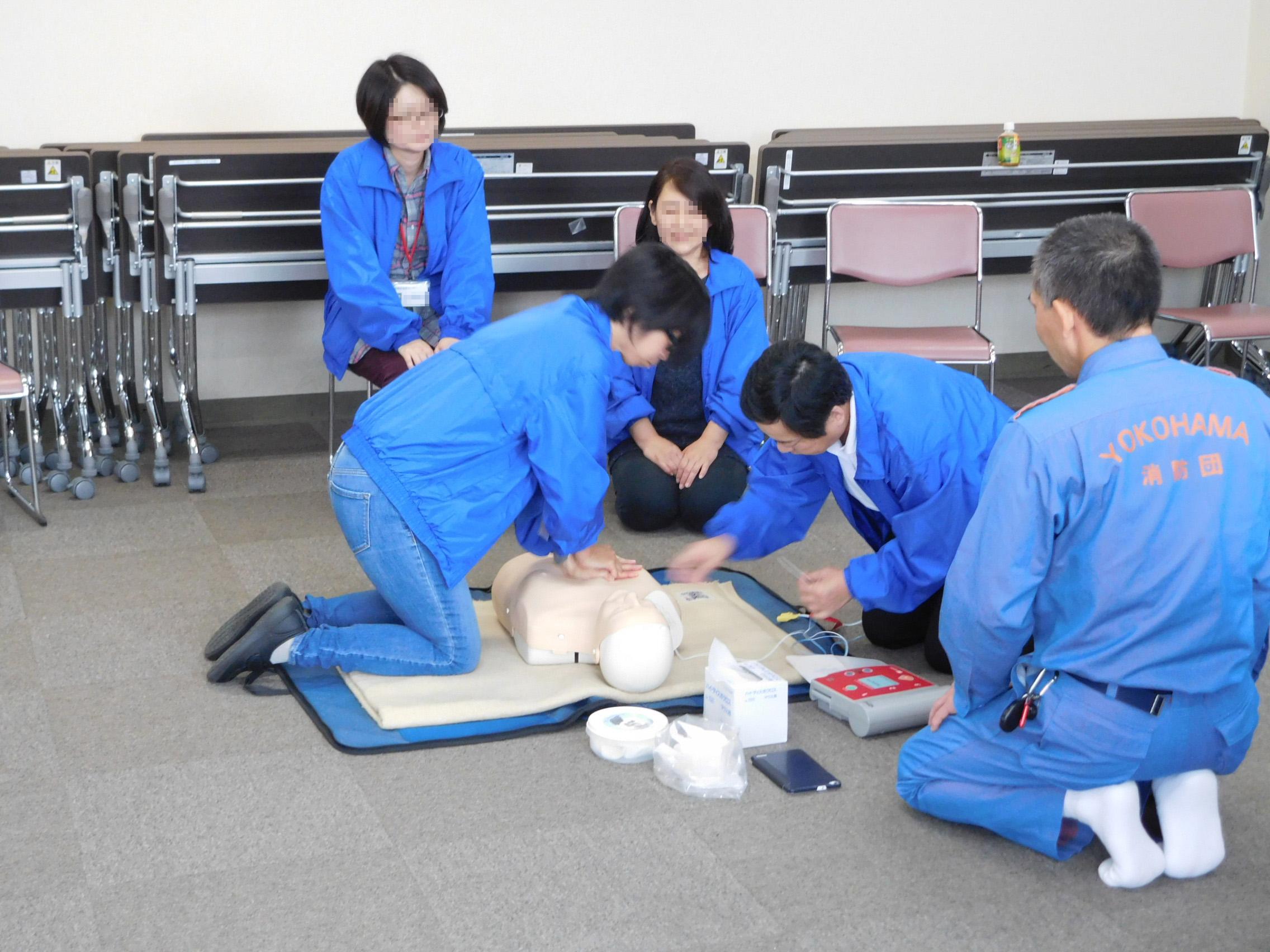 長津田地区センターで救命救急講習を実施しました